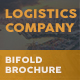 Logistics Company Bifold / Halffold Brochure - GraphicRiver Item for Sale