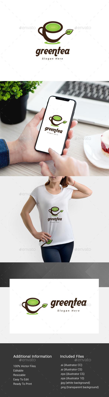 Green Tea Logo - Nature Logo Templates