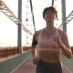 Portrait of Senior Female in Sport Top Running - VideoHive Item for Sale
