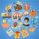 Shopping and Delivery Concept - GraphicRiver Item for Sale