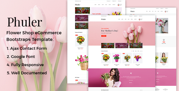Phuler - Flower eCommerce Bootstrap4 Template - Shopping Retail