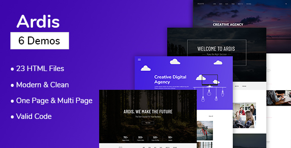 Ardis - Multipurpose One Page & Multi Page HTML Template - Creative Site Templates