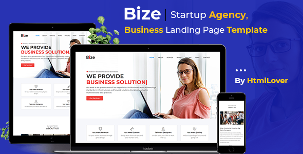 Image of Bize - Startup Agency, Business Landing Page HTML Template