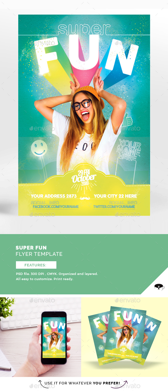 Super Fun Flyer Template - Flyers Print Templates