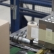 Cardboard Manufacture Machine Propduct Line Making Boxes. Clip. Packed Courier on Production Line - VideoHive Item for Sale