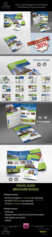 Travel Guide Brochure Bundle Template - Brochures Print Templates