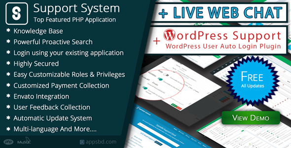 Best Support System-Live Web Chat & Client Support Desk & Help Centre - CodeCanyon Item for Sale