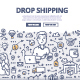 Drop Shipping Doodle Concept - GraphicRiver Item for Sale