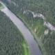 Aerial View of Forest River During Summer - VideoHive Item for Sale