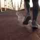 Female Legs Jogging at Sunrise on Bridge - VideoHive Item for Sale