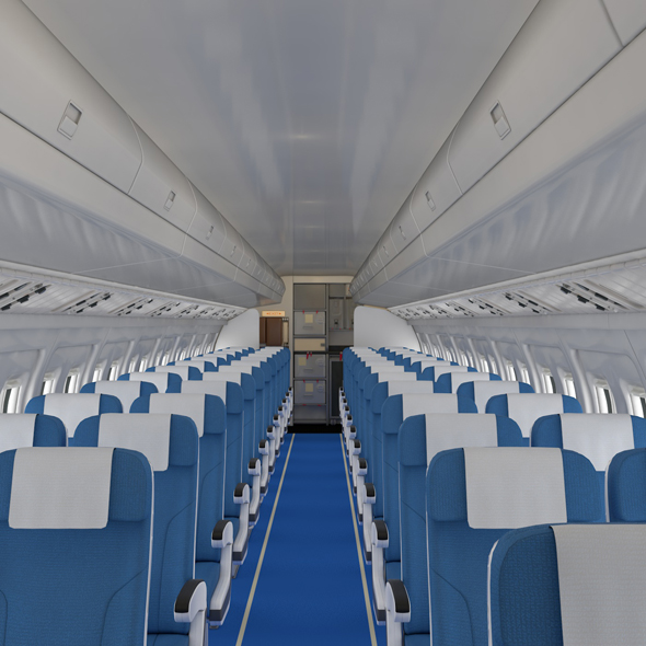 Airplane Cabin - 3DOcean Item for Sale