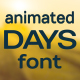 Days animated font - VideoHive Item for Sale