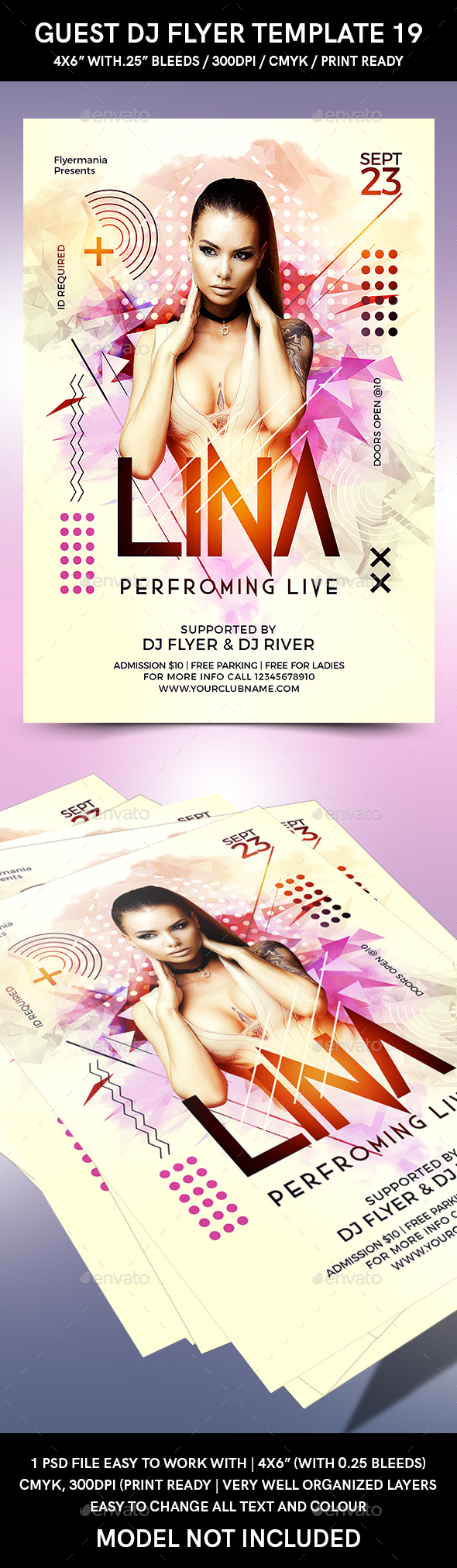Guest DJ Flyer Template 19 - Flyers Print Templates