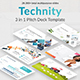 Technity 3 in 1 Pitch Deck Bunndle Powerpoint Template - GraphicRiver Item for Sale