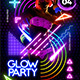 Glow Party Flyer Template - GraphicRiver Item for Sale