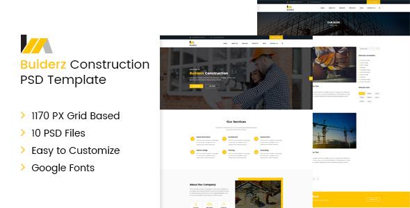 Builderz - Construction PSD Template - PSD Templates