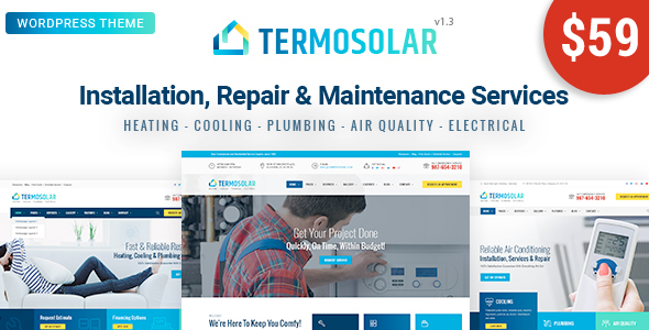 Image of Termosolar - Maintenance Services WordPress Theme