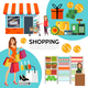 Flat Shopping Composition - GraphicRiver Item for Sale