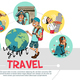 Flat Travel Round Concept - GraphicRiver Item for Sale