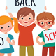 Group of Children Hold a Board for Back to School - GraphicRiver Item for Sale