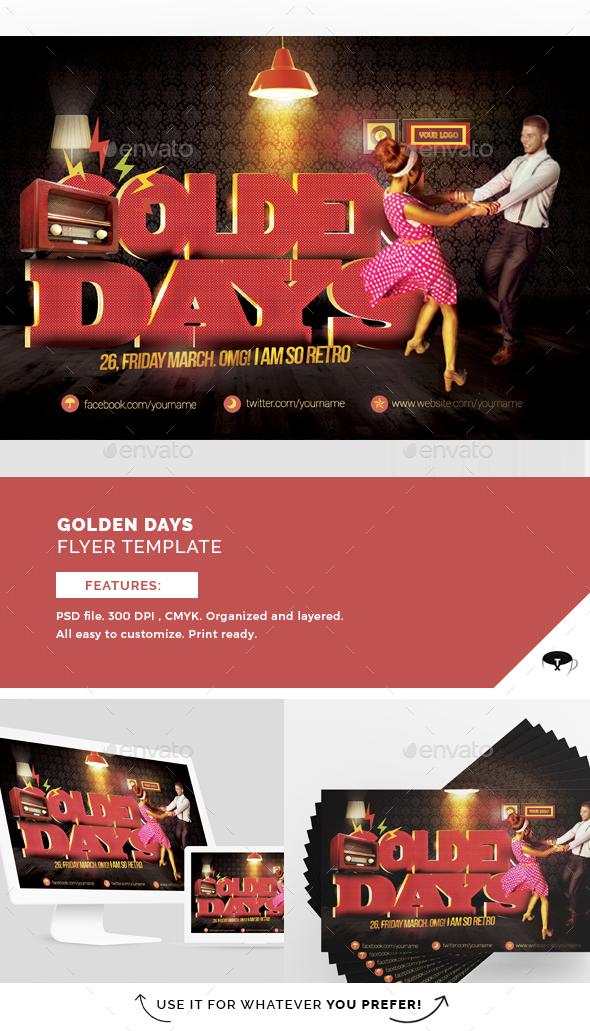 Golden Days Flyer Template - Flyers Print Templates