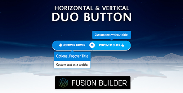 Fusion Builder Horizontal & Vertical Duo Button Element Add-on for Avada v5 - CodeCanyon Item for Sale