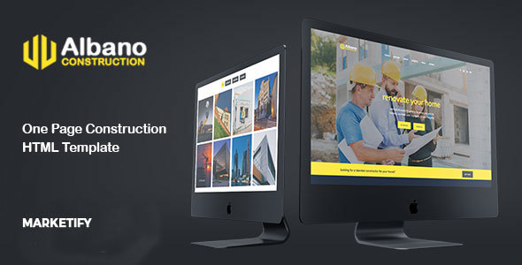 Albano - One Page Construction Building Template - Business Corporate