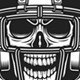 American Football Skull Emblem - GraphicRiver Item for Sale