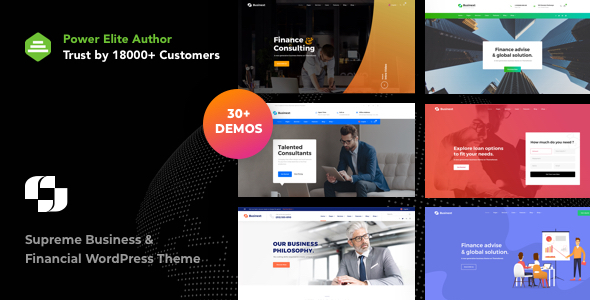 Businext - Supreme Businesses and Financial Institutions WordPress Theme - Corporate WordPress