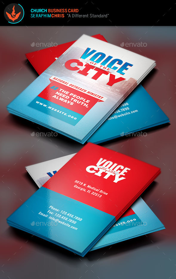 Voice of the City Charity Business Card Template by SeraphimChris ...