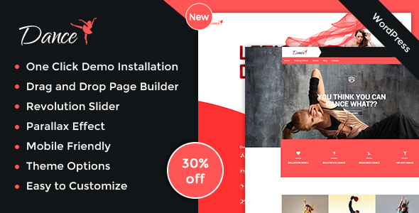 Dance Academy - Dance Studio WordPress Theme