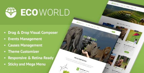 Eco World - Nature, Ecology & NGO WordPress Theme - Environmental Nonprofit