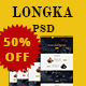 Longka - One Page Restaurant Website PSD Template - ThemeForest Item for Sale