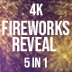 Golden Fireworks Reveal - VideoHive Item for Sale
