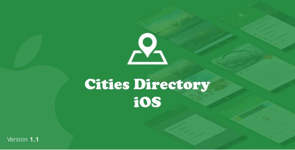 CitiesDirectory(iOS Swift) - CodeCanyon Item for Sale