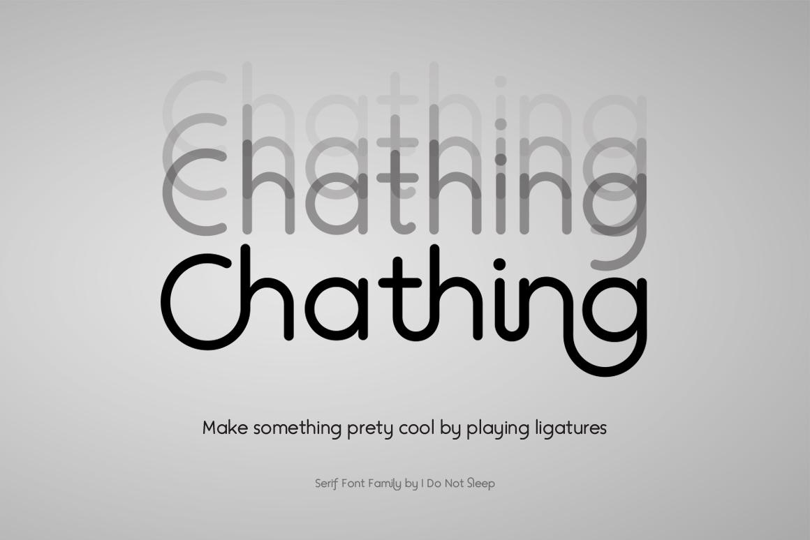 Chathing Sans Geometric Font