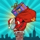 Santa Claus with Bag of Presents Climbing - GraphicRiver Item for Sale