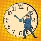 Man Wants To Stop the Clock - GraphicRiver Item for Sale