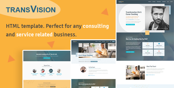 Image of TransVision - Life Coaching & Consulting Template