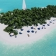 Tropical Island with a Sailing Boat. - VideoHive Item for Sale