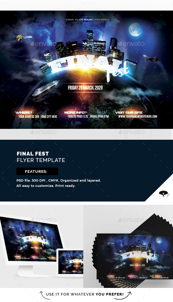 Final Fest Flyer Template - Flyers Print Templates