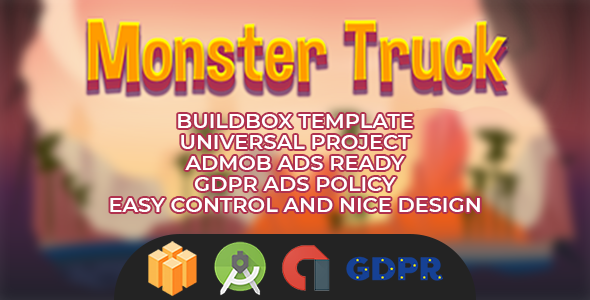 Monster Truck Buildbox with GDPR: Android Game            Nulled