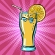 Yellow Beverage Juice Lemonade with Lemon