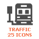 Traffic & Accident Filled Icon - GraphicRiver Item for Sale