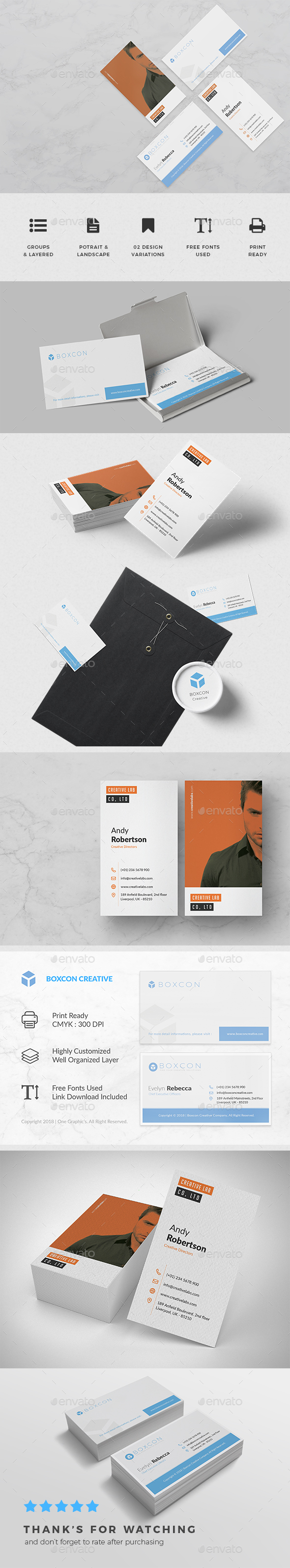Minimalist business card vol 05 by onegraphics graphicriver minimalist business card vol 05 business cards print templates reheart Choice Image