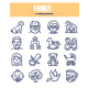 Family Doodle Icons - GraphicRiver Item for Sale