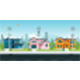 House with Electric Poles - GraphicRiver Item for Sale