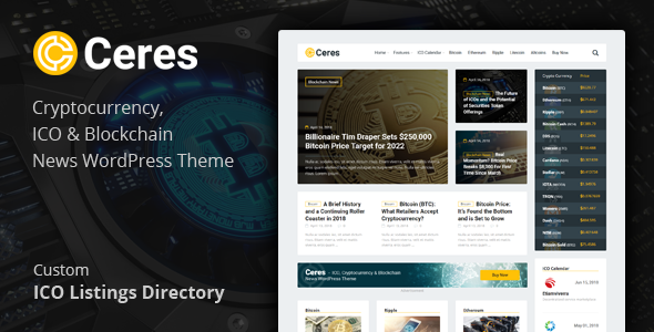 Image of Ceres - Cryptocurrency & Blockchain News WordPress Theme