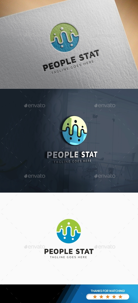 People Statistic Logo - Humans Logo Templates