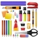 Office Supply Vector Stationery School Tools Icons - GraphicRiver Item for Sale